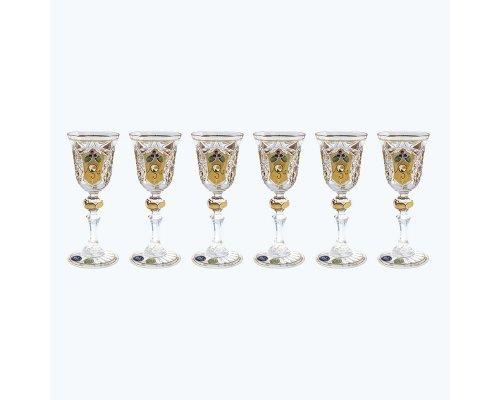 Набор рюмок для водки 60 мл Max Crystal Золото (6 шт)