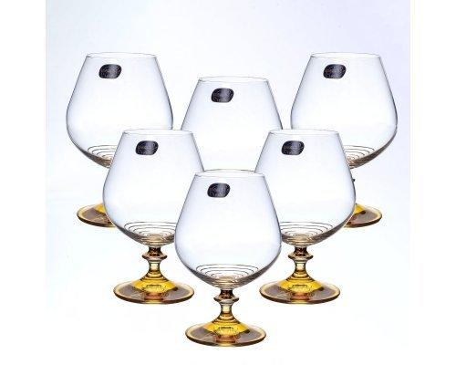 Набор бокалов для бренди 400 мл 6 штук Богемия Кристал (Bohemia Crystal)