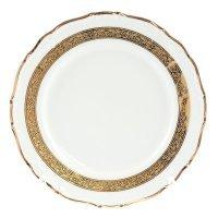 Набор тарелок 25 см Тхун (Thun) Мария Луиза Золотая лента (6 шт)