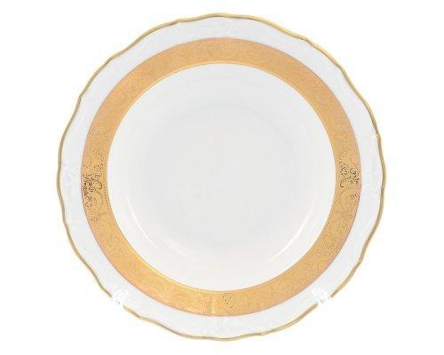 Набор тарелок глубоких 23 см Мария Луиза Матовая полоса Карлсбад (Carlsbad) (6 шт)