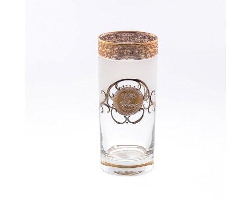Набор стаканов для воды 300 мл королевский Версаче Богемия А-M Богемия Кристал (Bohemia Crystal)