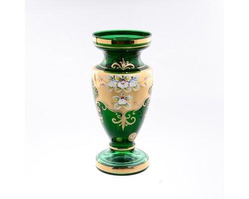 Ваза 26 см Bohemia (Богемия) Лепка Зеленая E-V