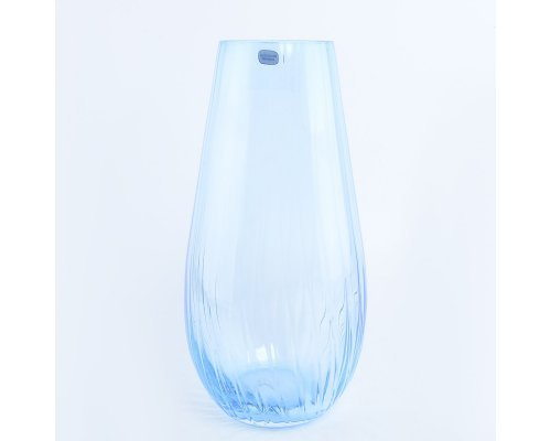 Ваза 30 см голубая Waterfall Кристалайт (Kristalayt)