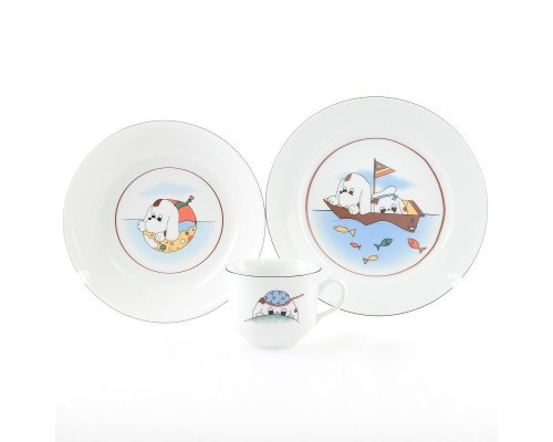 Детский набор фарфоровой посуды Собачки Thun 3 предмета