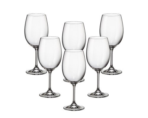 Набор бокалов для вина 450 мл Klara Crystalite Bohemia (6 шт)