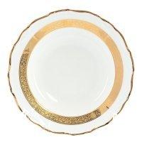 Набор глубоких тарелок 23 см Тхун (Thun) Мария Луиза Золотая лента (6 шт)