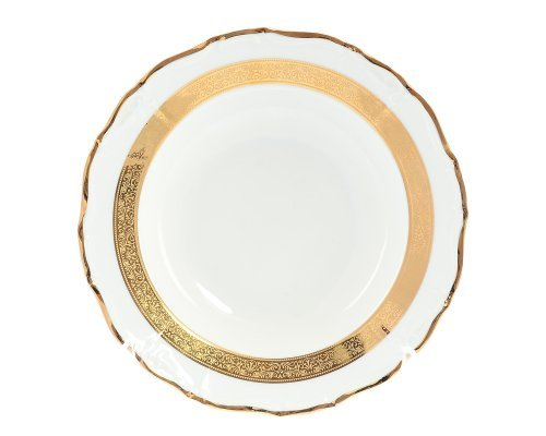 Набор глубоких тарелок Мария Луиза Золотая лента Thun 23 см (6 шт)