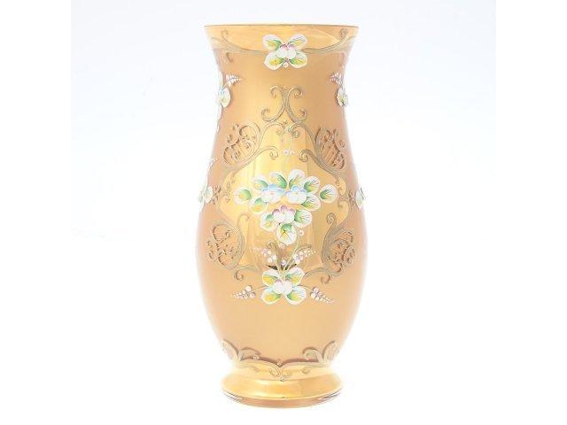 Ваза 30 см Лепка золотая E-V Богемия Кристал (Bohemia Crystal)