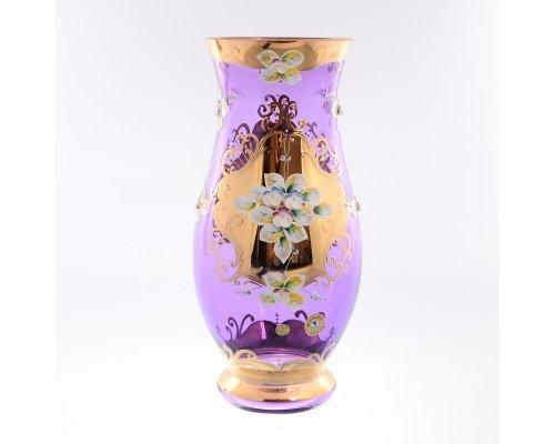 Ваза 30 см Bohemia (Богемия) Лепка фиолетовая E-V