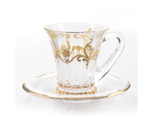 Набор чайных пар 180 мл WELINGTON E-S Богемия Кристал (Bohemia Crystal)
