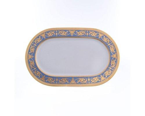 Блюдо овальное 36 см Falkenporzellan Imperial Blue Gold