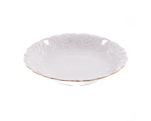Блюдо круглое 30 см Белый узор Корона Queens Crown