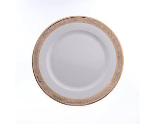 Блюдо круглое 30 см Тхун (Thun) Опал Широкий кант платина золото