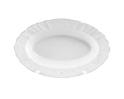 Блюдо овальное 24 см Бернадотт Платиновый узор