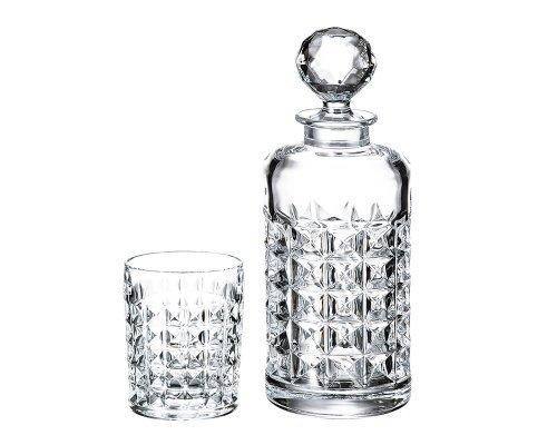 Набор для виски 7 предметов Diamond Crystalite Bohemia
