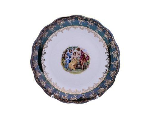 Блюдо круглое 30 Зеленая Мадонна Royal Czech Porcelain