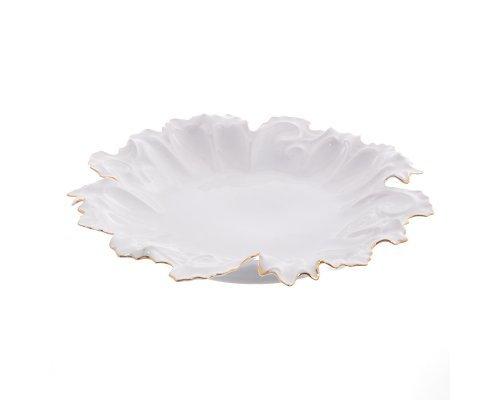 Блюдо круглое 35 см Белый узор Корона Queens Crown