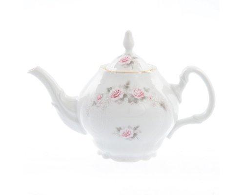 Чайник 0,7 л Бернадотт Серая роза золото