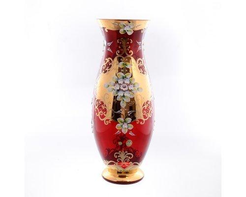 Ваза для цветов Bohemia Лепка красная 50см