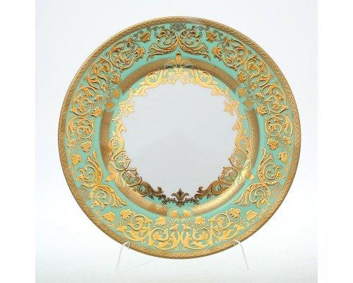 Набор тарелок 28 см Falkenporzellan Natalia green gold (6 шт)