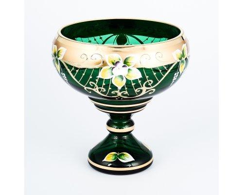 Конфетница 16 см ЗеленаяStar Crystal