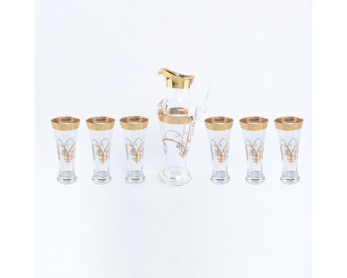 Набор 7 предметов графин и стаканы иксовка Krapnik Богемия Кристал (Bohemia Crystal)