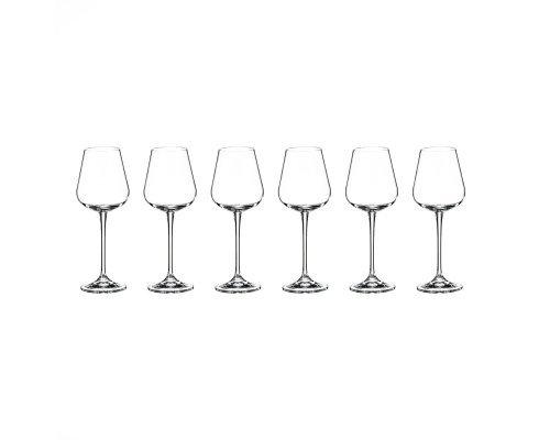 Набор бокалов для вина 260 мл Amundsen Crystalite Bohemia (6 шт)