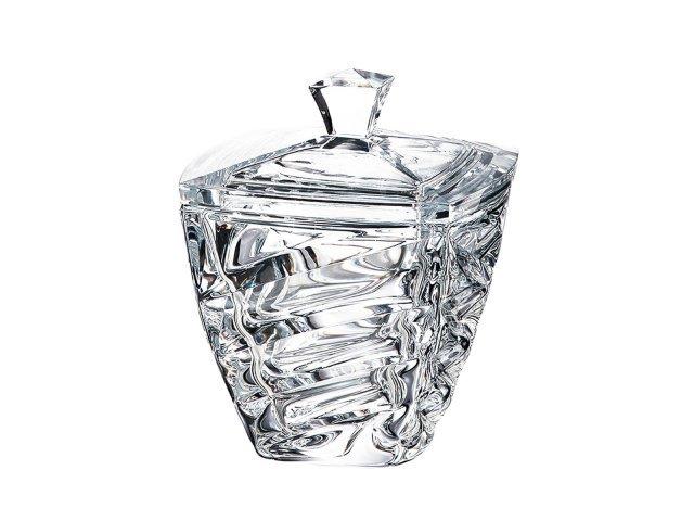 Конфетница с крышкой 18 см Facet Crystalite Bohemia