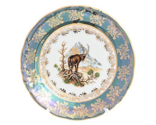 Набор тарелок 19 см Фредерика Охота Зеленая (6 шт)
