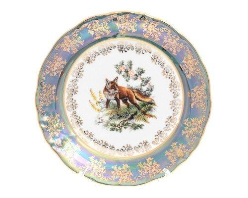 Набор тарелок 21 см Фредерика Охота Зеленая (6 шт)