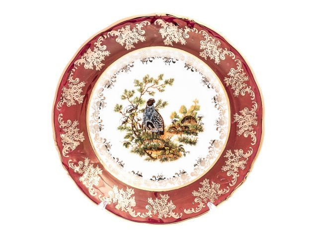 Набор тарелок 19 см Фредерика Охота Красная Roman Lidicky (6 шт)
