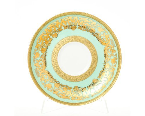 Набор блюдец 15 см Natalia seladon gold (6 шт)