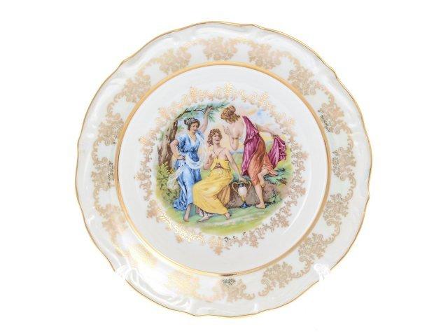 Набор тарелок глубоких 23 см Мадонна перламутр Корона (6 шт)