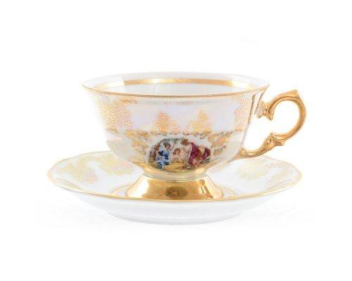 Набор чайных пар 220 мл Мадонна перламутр Корона Queens Crown