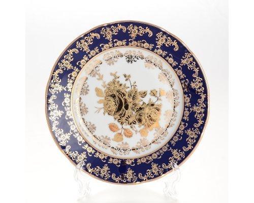 Набор тарелок 17 см Тхун (Thun) Констанция Золотая роза Кобальт 7635400 (6 шт)