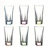 Набор разноцветных стаканов для воды 380 мл Fusion trends RCR Cristalleria Italiana
