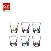 Набор стопок для водки цветные 60 мл Fusion trends RCR Cristalleria Italiana