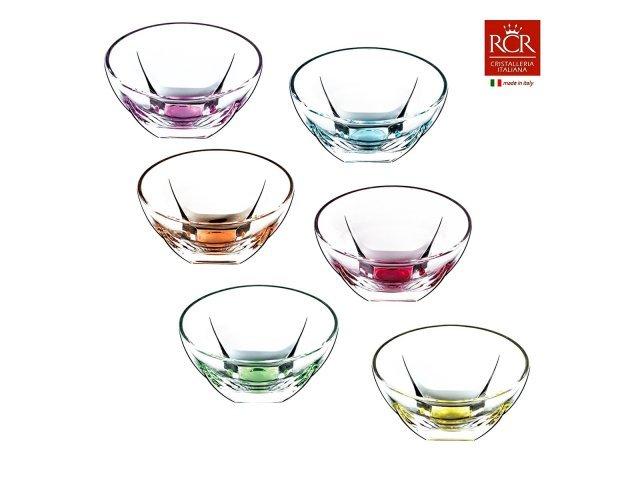 Набор пиал цветные 13,5 см Fusion trends RCR Cristalleria Italiana