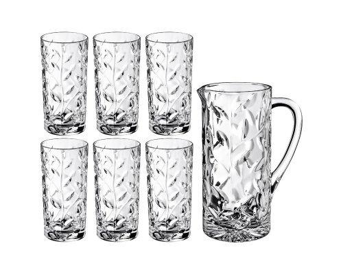 Набор для воды 7 предметов 1,2 л + 360 мл Laurus RCR Cristalleria Italiana