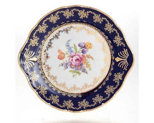 Тарелка для торта 27 см Констанция Кобольт Полевой цветок Thun (Тхун)