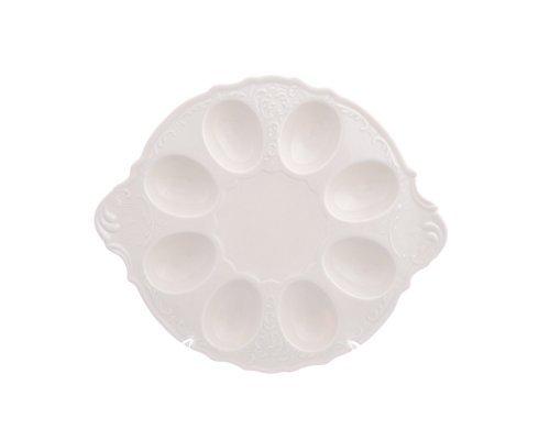 Поднос для яиц 25 см Бернадотт Недекорированный BE-IVORY