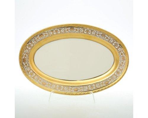Блюдо овальное 24 см Royal Gold CREAM