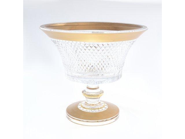 Конфетница 20 см Max Crystal Золото Bohemia (Богемия) Филиция