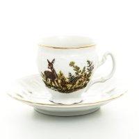 Набор кофейных пар бочка Bernadotte Охота 90 мл (6 шт)