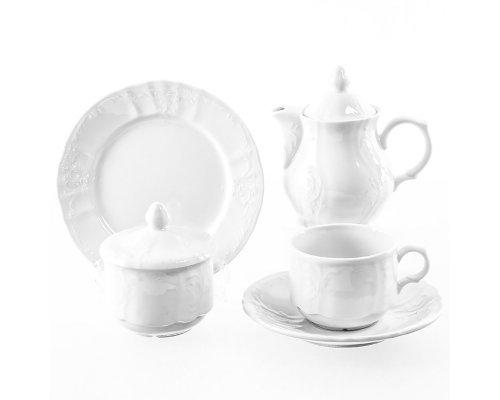 Чайный сервиз на 6 персон 22 предмета Бернадотт Недекорированный (новый)