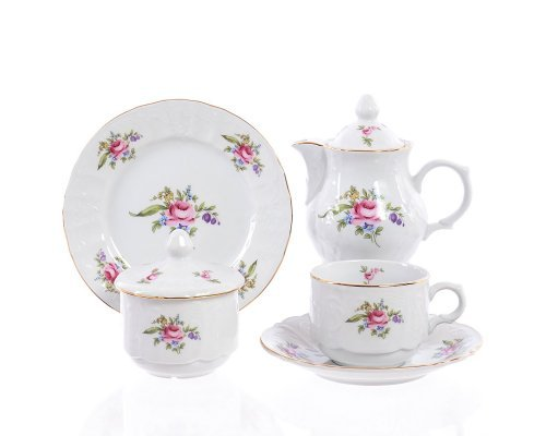 Чайный сервиз на 6 персон 22 предмета Бернадотт Полевой цветок (новый)