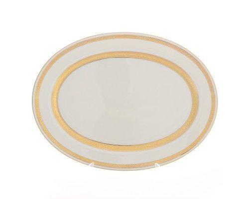 Блюдо овальное 35 см Falkenporzellan Cream Gold 9321