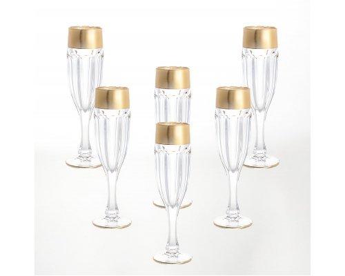 Набор фужеров для шампанского 150 мл Сафари голд