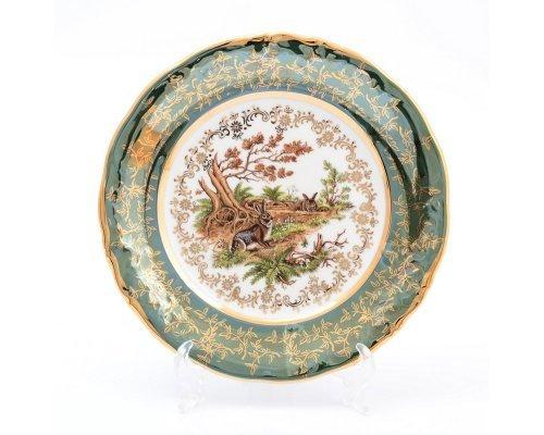 Набор тарелок 19 см Охота Зеленая Sterne porcelan (6 шт)