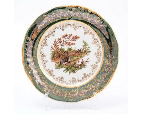 Набор тарелок 21 см Охота Зеленая Sterne porcelan (6 шт)